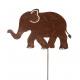 Metall Stecker Elefant, H120cm, rost